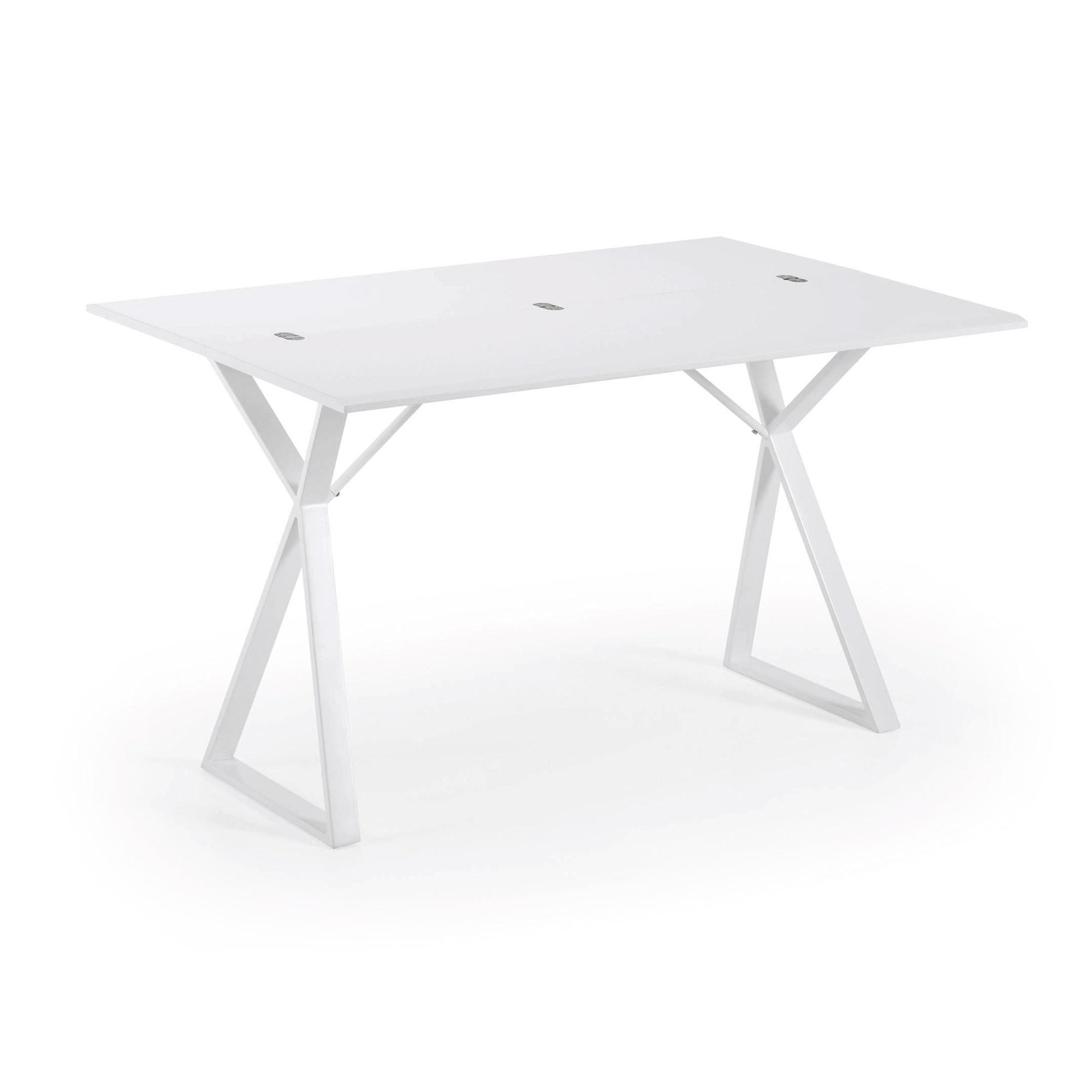 Kave Home Side / Eettafel 'Kita' 130 x 45-90 x 76cm
