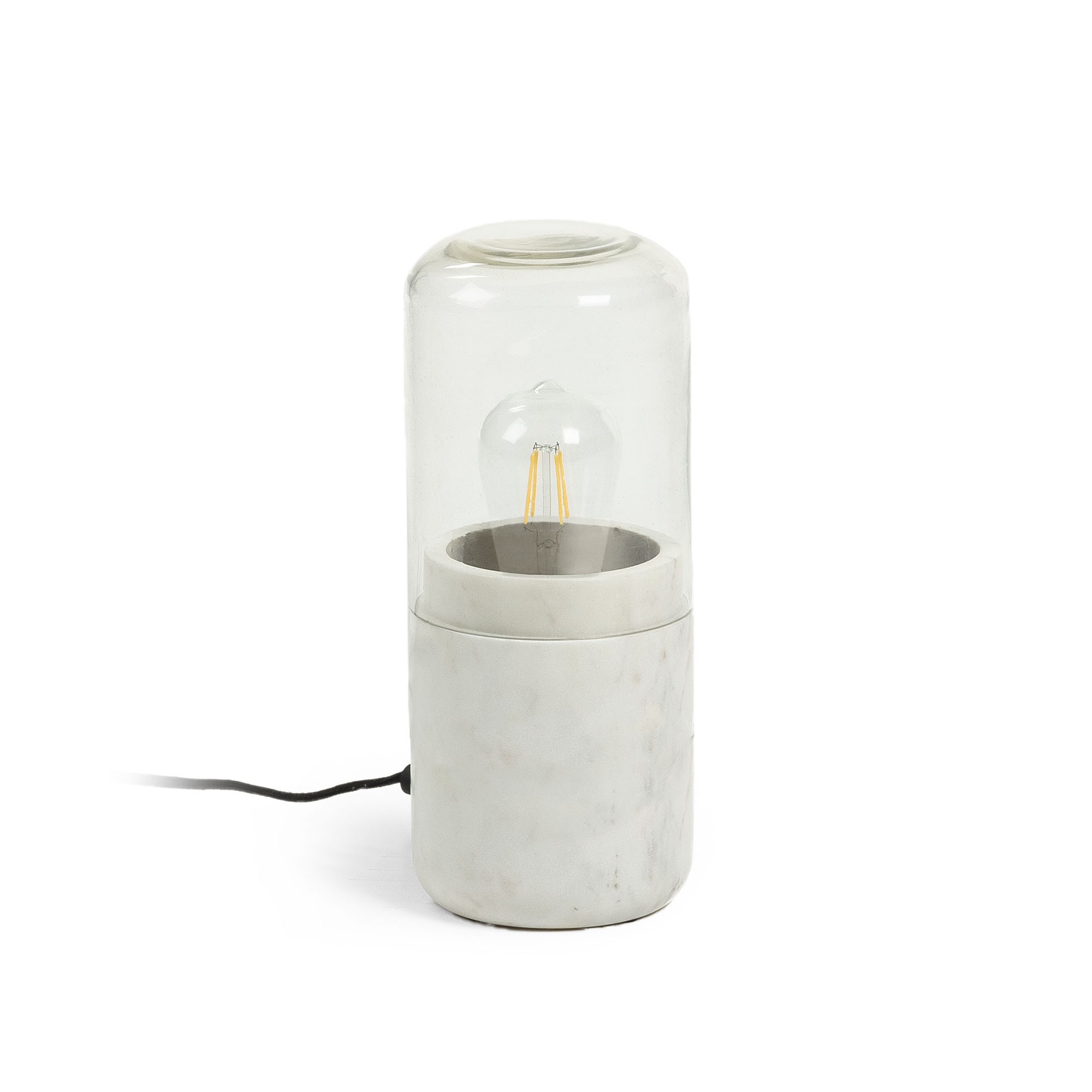 Kave Home Tafellamp 'Cleo', kleur Wit