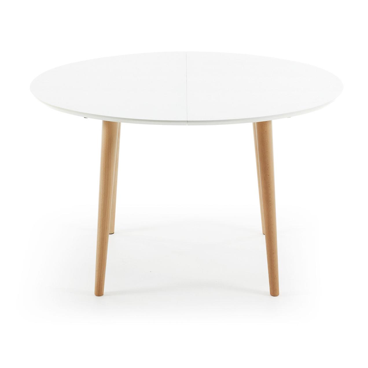 Kave Home uitschuifbare eettafel 'Oqui' (120 - 200), kleur wit