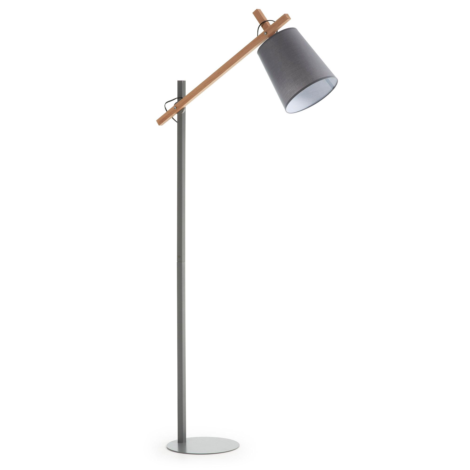 Kave Home Vloerlamp 'Kosta', kleur grijs