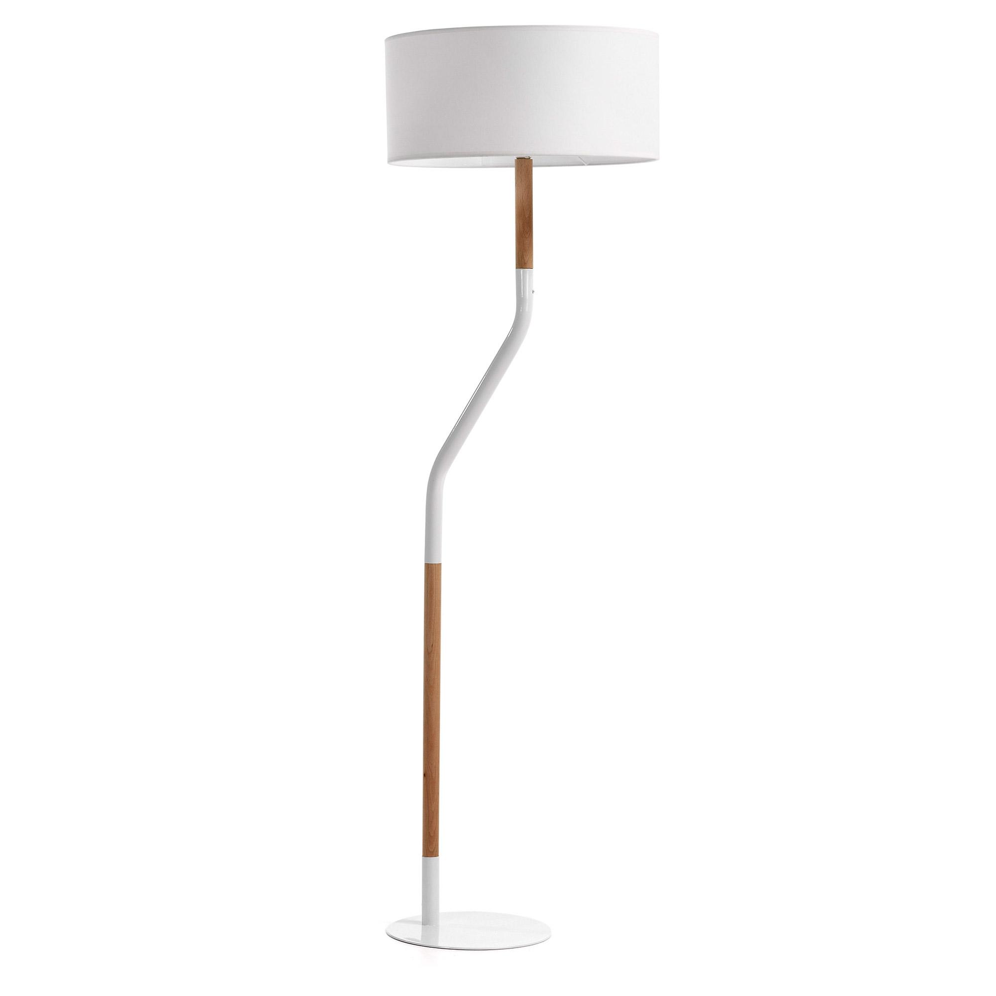 Kave Home Vloerlamp 'Leroca', kleur wit