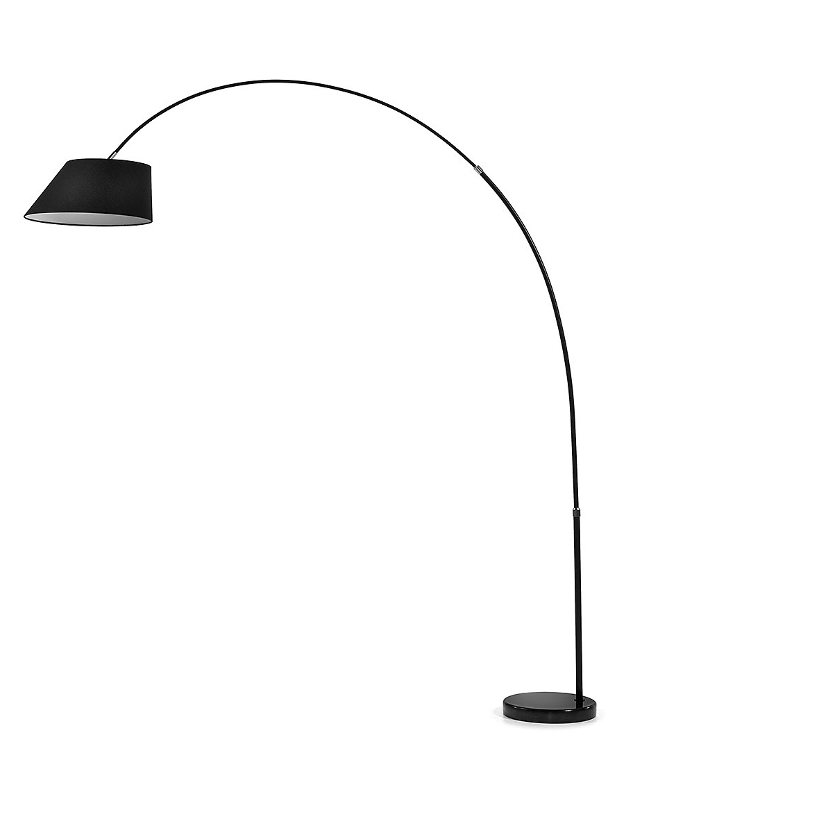 Kave Home Vloerlamp 'May', kleur zwart