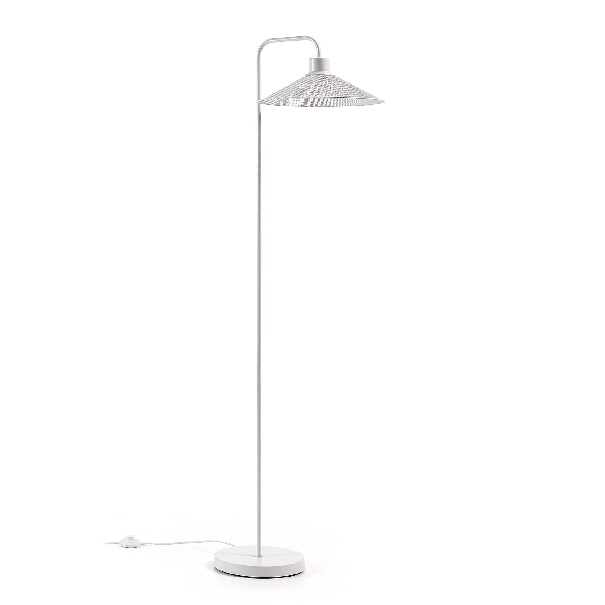 Kave Home Vloerlamp 'Mody', kleur Wit