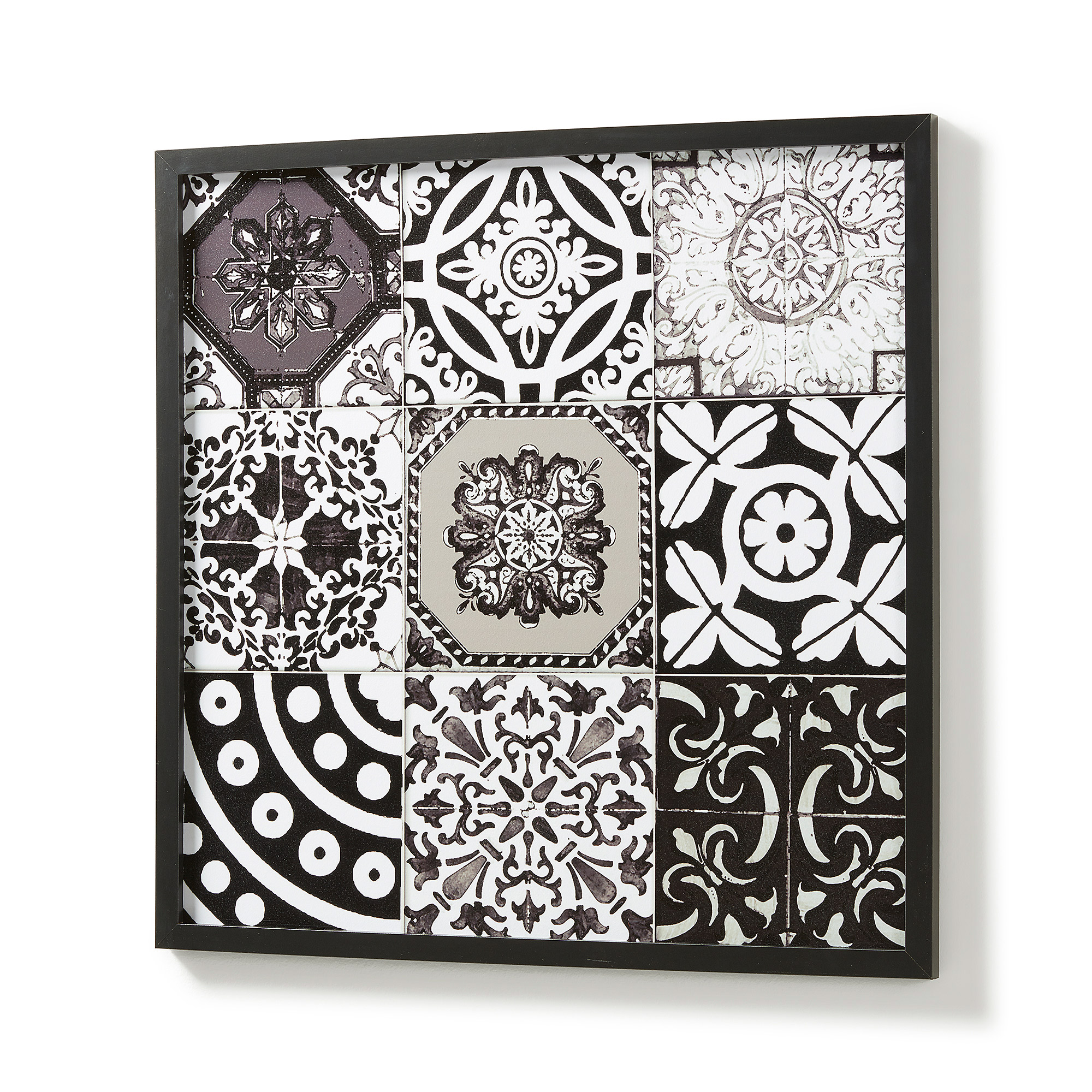 Kave Home wandbord 'Alika', zwart/wit
