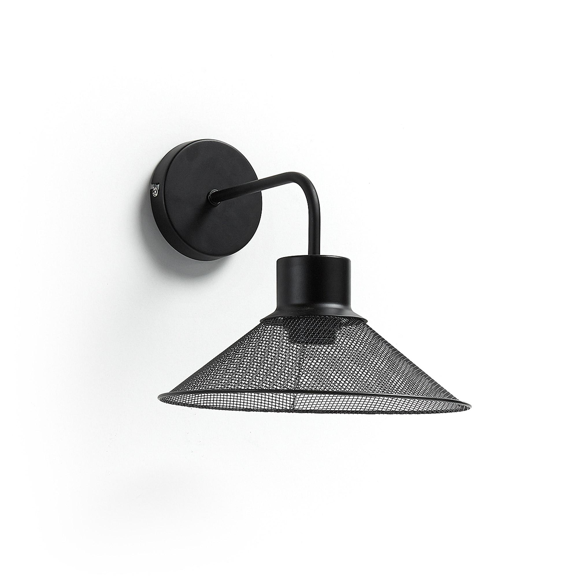 Kave Home Wandlamp 'Mody', kleur Zwart