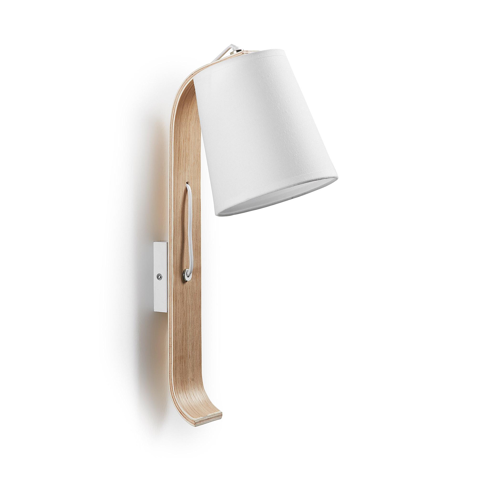 Kave Home wandlamp 'Repcy', kleur wit