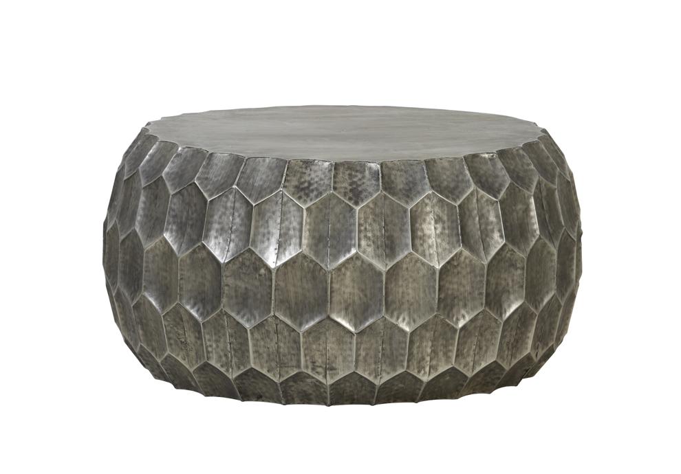 Light & Living Bijzettafel 'Kalan', antiek zilver Tafels | Bijzettafels kopen