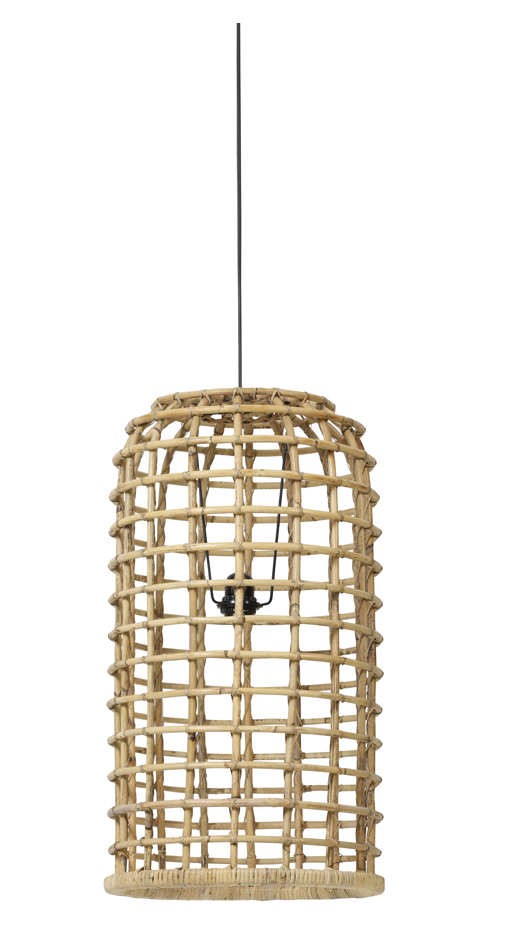 Light & Living Hanglamp 'Aliana' 36cm, rotan naturel