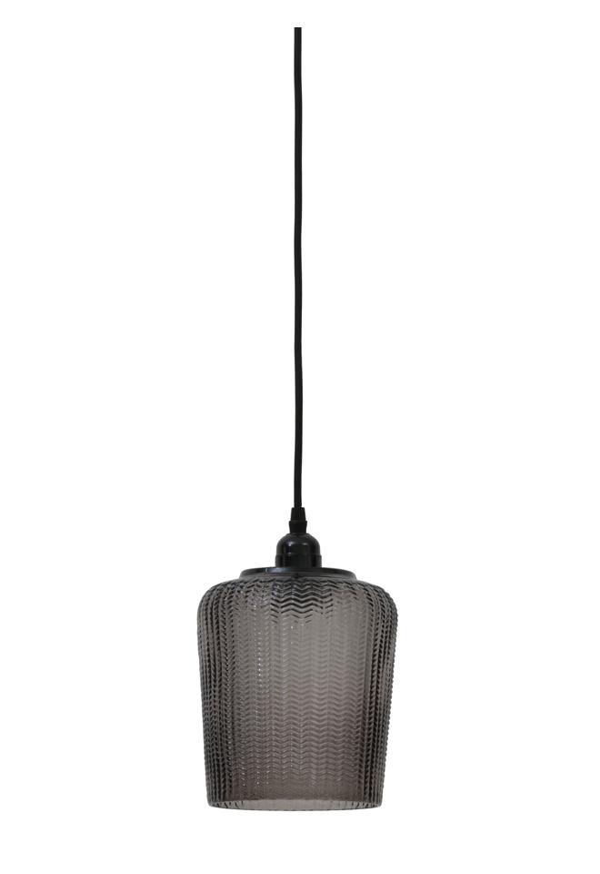 Light Living Light Living Hanglamp 'Martina' 16cm, bruin grijs Root Catalog