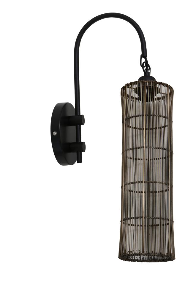 Light & Living Wandlamp 'Sytha', antiek brons-mat zwart