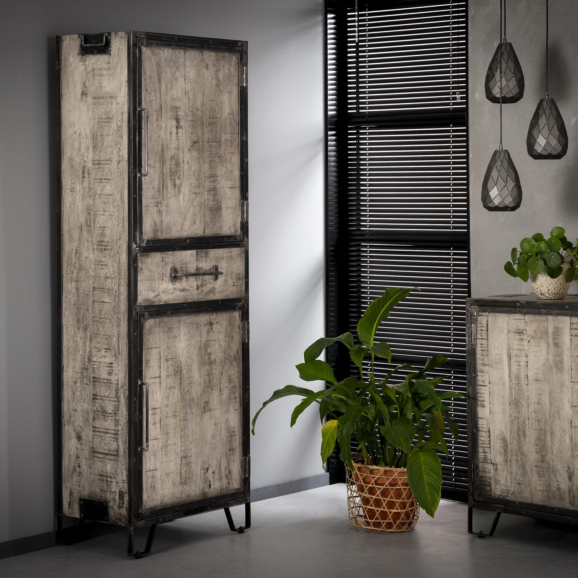 Opbergkast 'Rift' met 2 deuren en 1 lade, 190 x 40cm