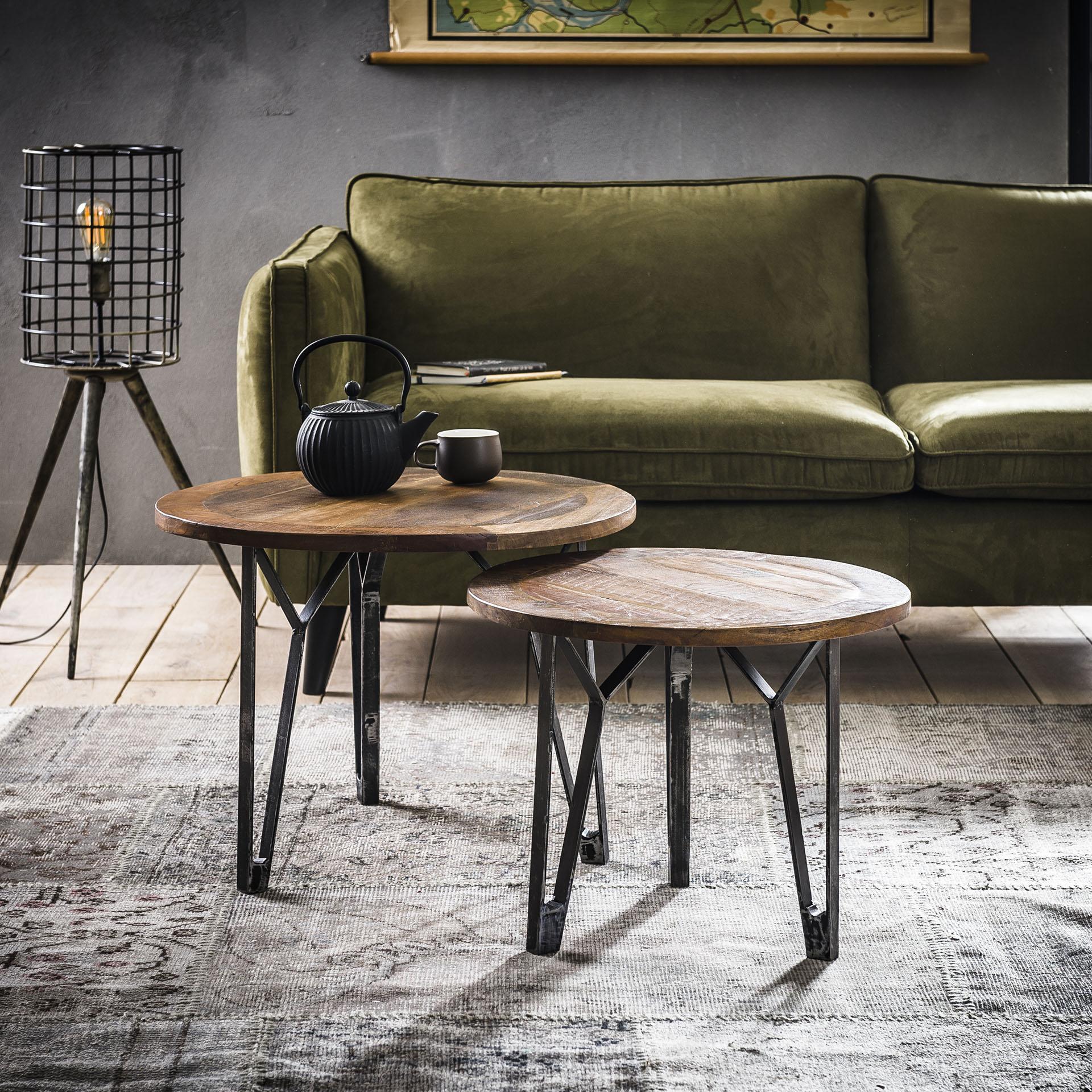 Uw partner in meubels: Salontafel 'Julianne' Set van 2 stuks Tafels | Salontafels