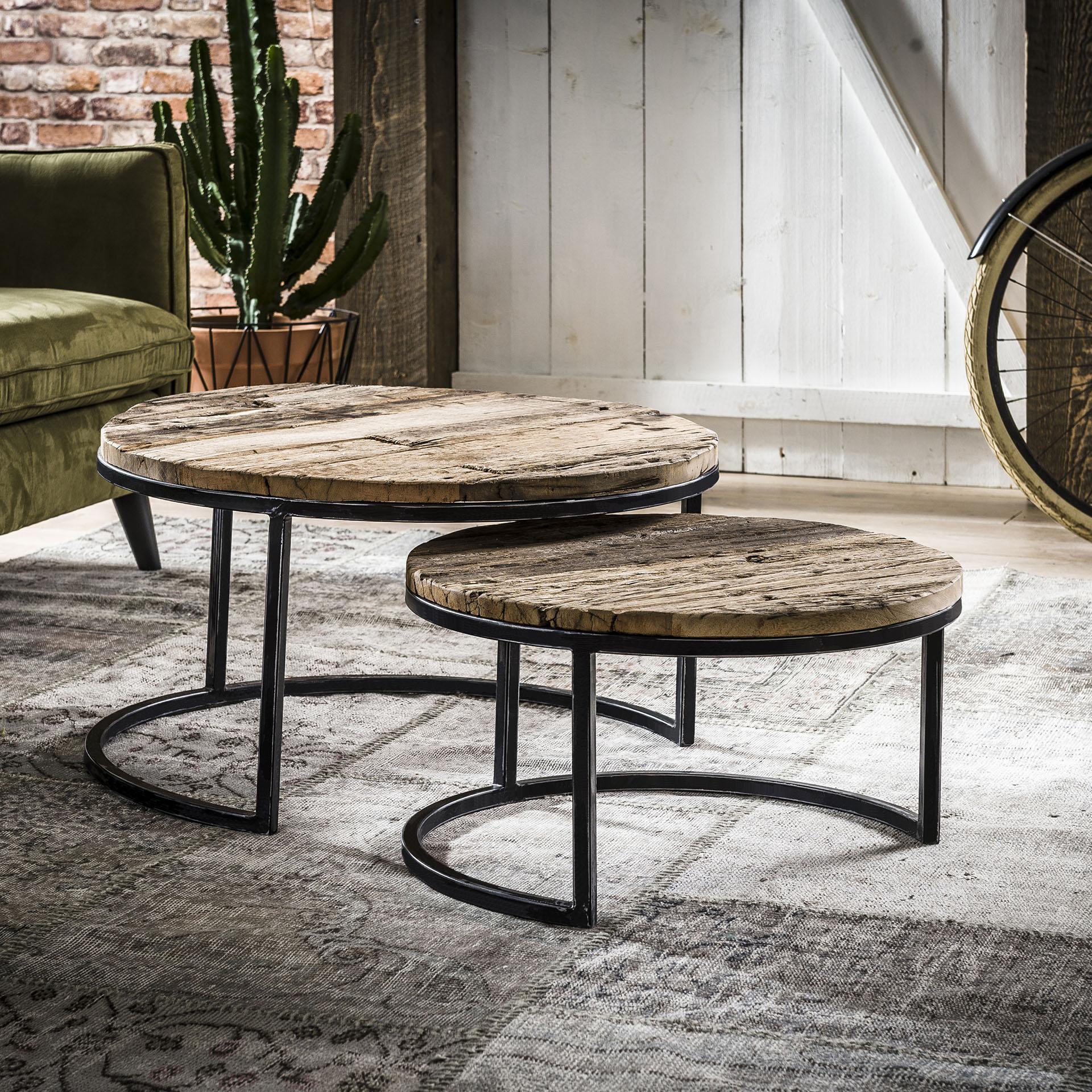 Uw partner in meubels: Salontafel 'Marx' Set van 2 stuks Tafels | Salontafels