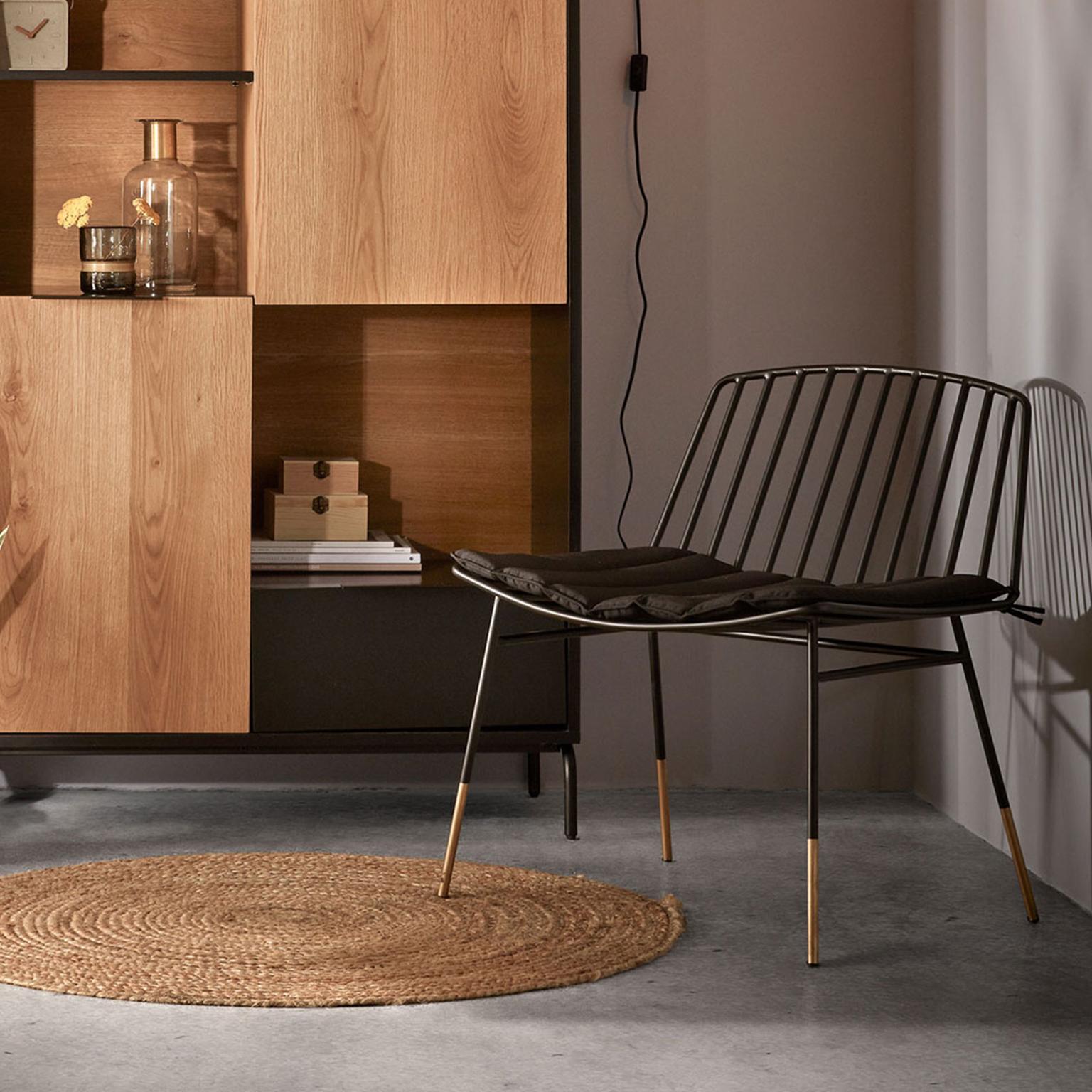Kave Home Loungestoel 'Lulu', kleur Zwart korting