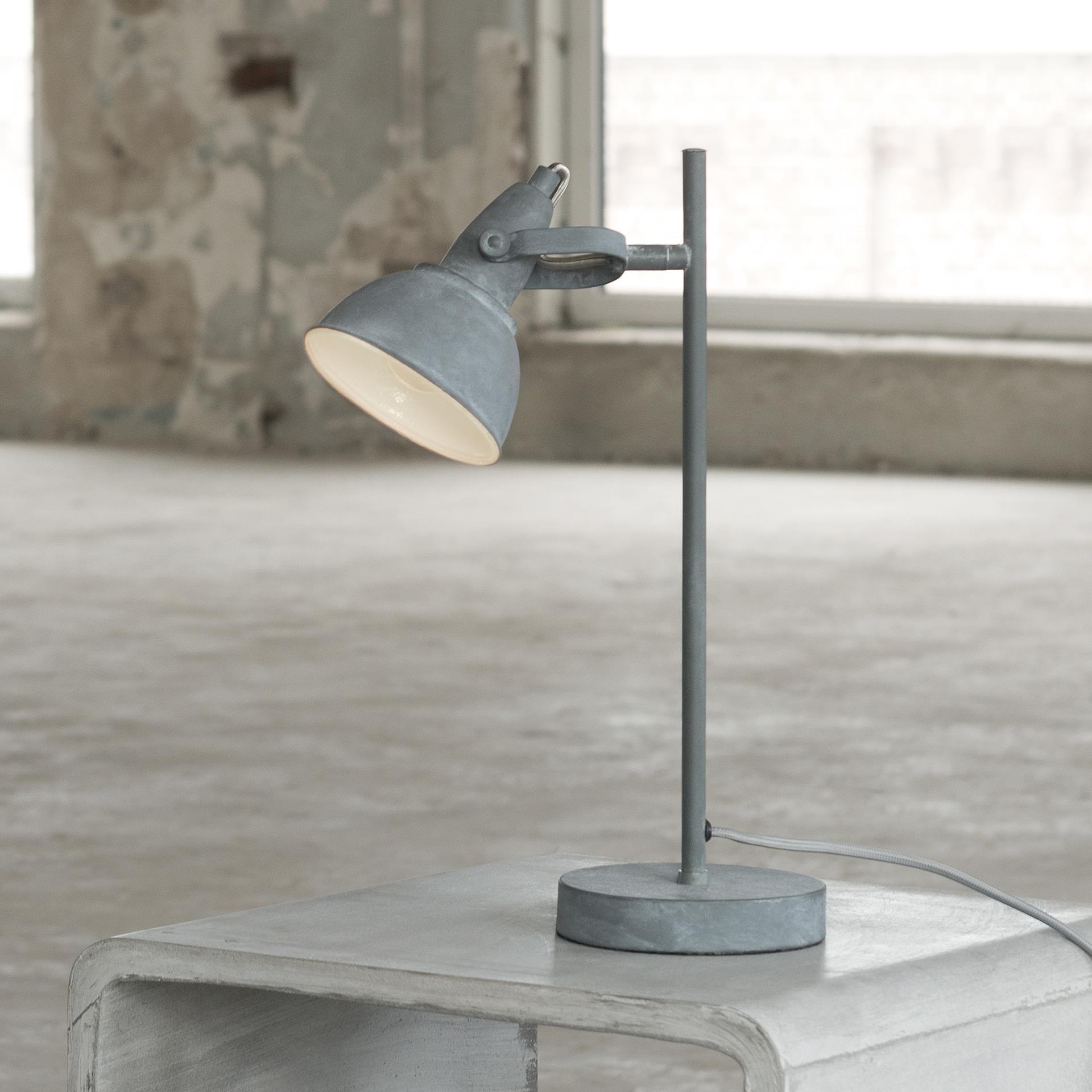 Tafellamp 'Andre' betonlook Verlichting | Tafellampen kopen