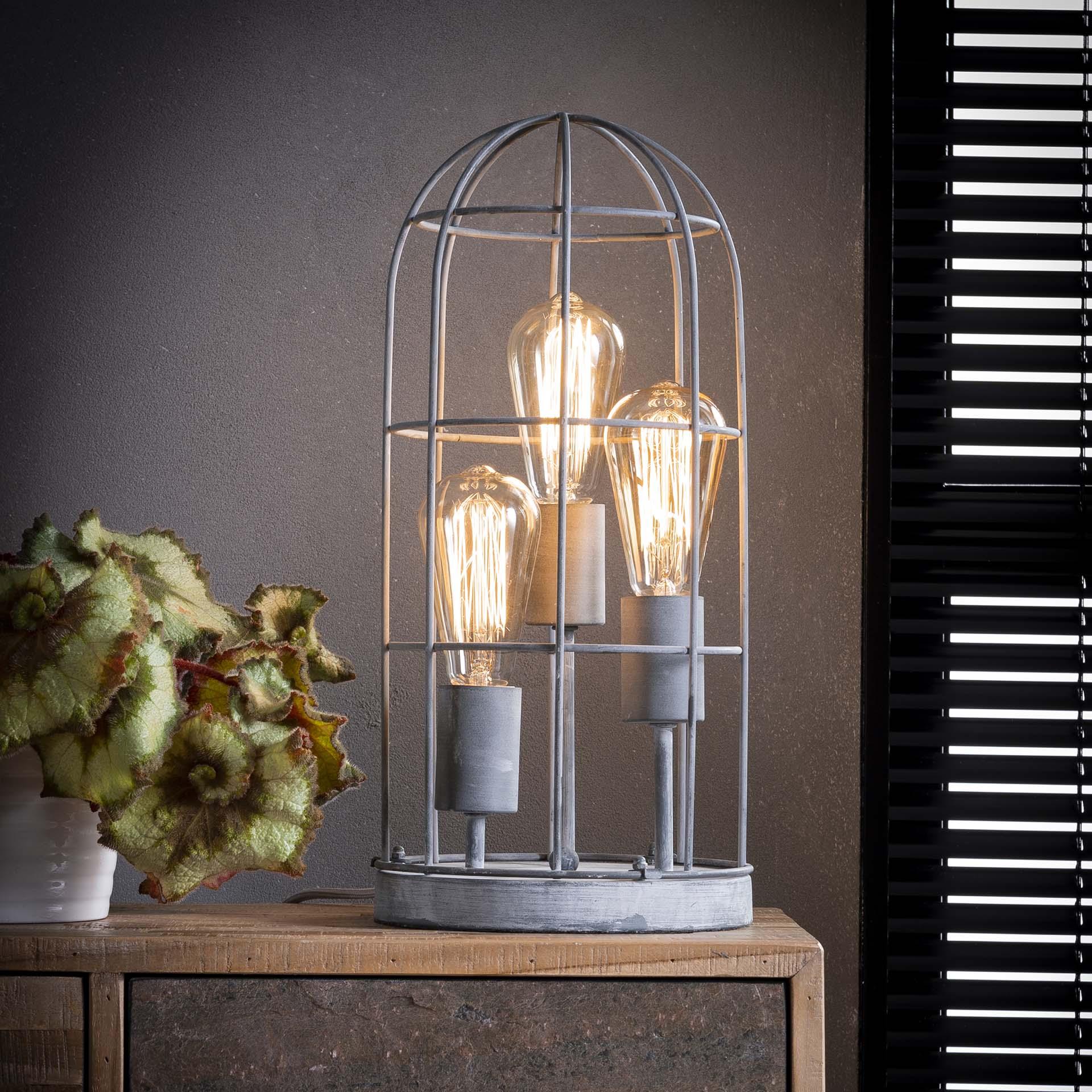 Tafellamp 'Channing' 3-lamps, 20cm Verlichting | Tafellampen kopen
