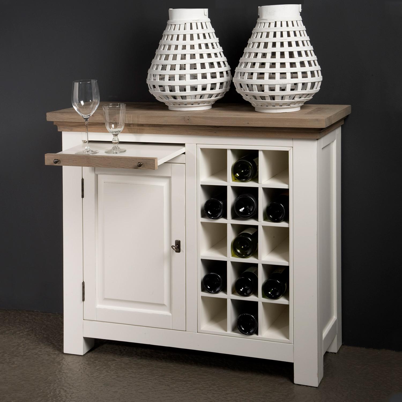 Tower Living Wijnkast 'Parma' kleur wit van Tower Living