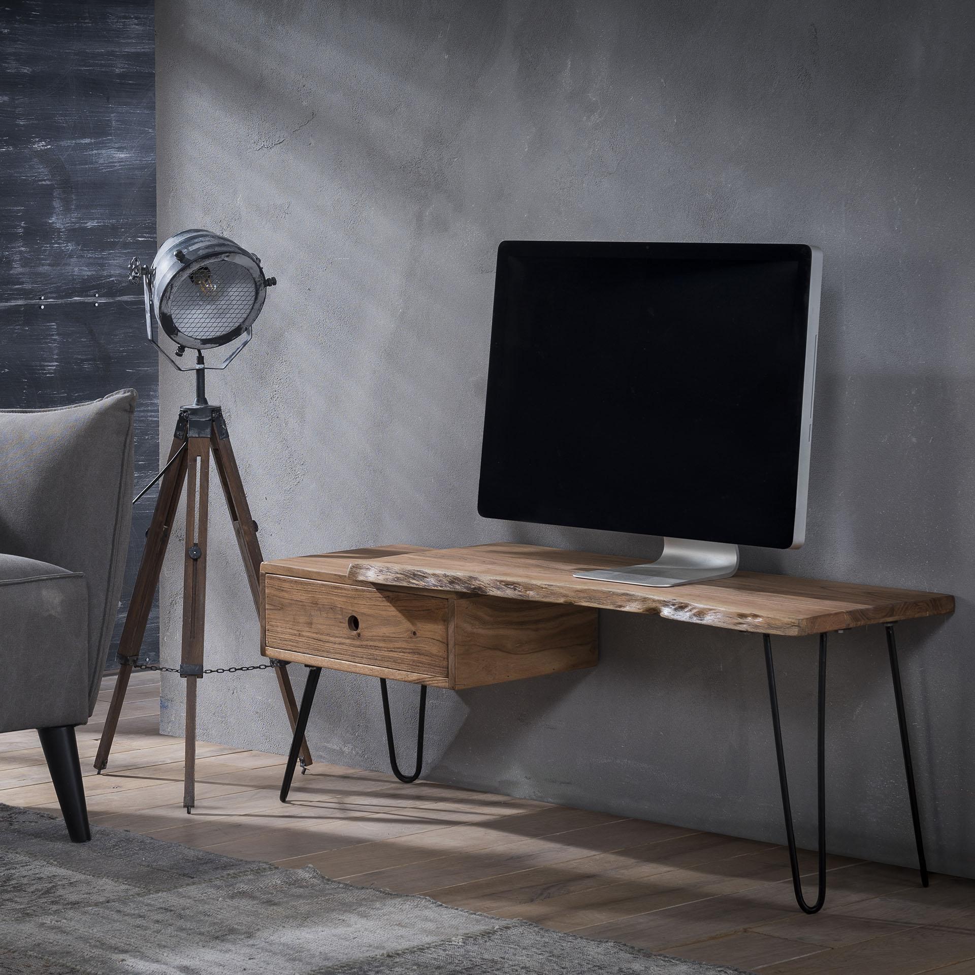 TV-meubel 'Geena', massief acacia 120cm vergelijken LifestyleFurn