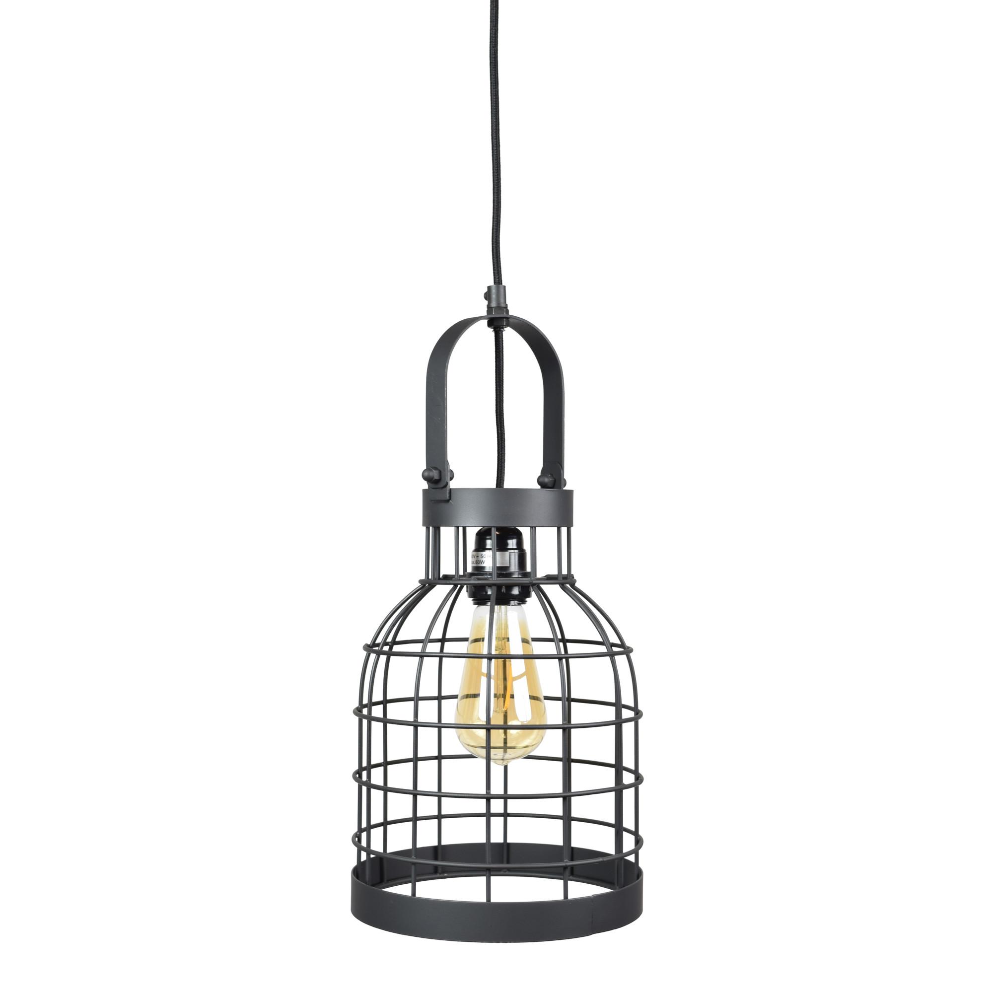 Urban Interiors hanglamp 'Bucket Small' 20cm, kleur Zwart Verlichting | Hanglampen kopen