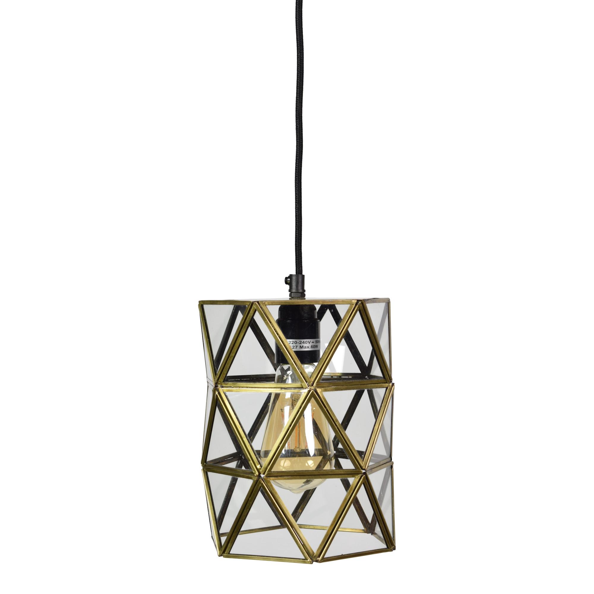 Urban Interiors hanglamp 'Geo3' 15cm, kleur Brass Antique Verlichting | Hanglampen kopen