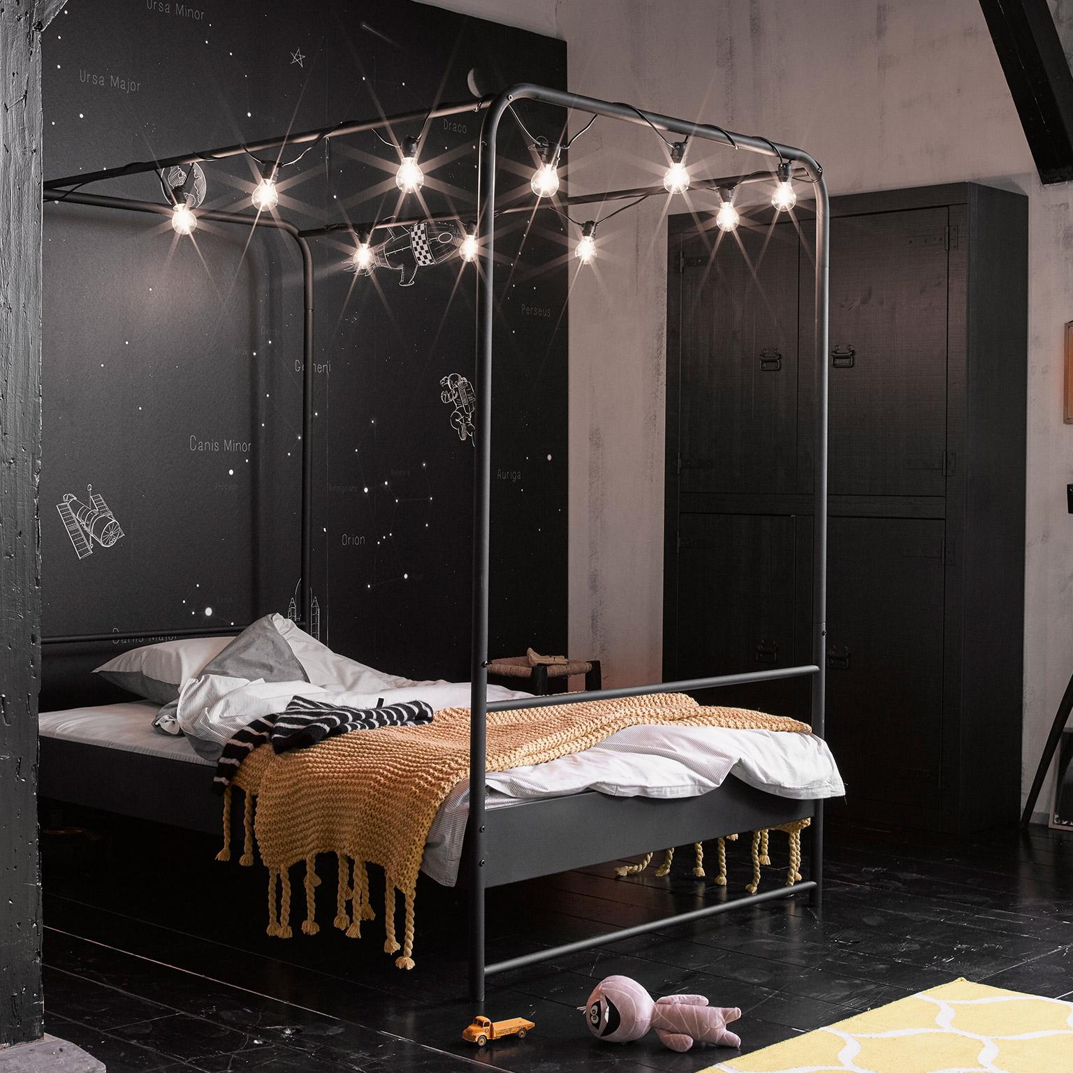 120 Bed Kopen.Vtwonen Bed Bunk 120 X 200cm Kleur Zwart Root Catalog Meubel