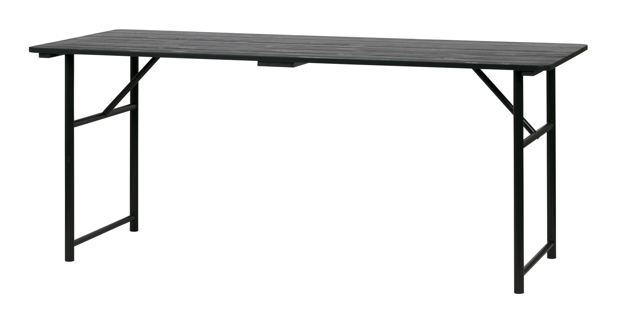 vtwonen Eettafel 'Army' 180 x 80cm, mat zwart vtwonen 31172 kopen