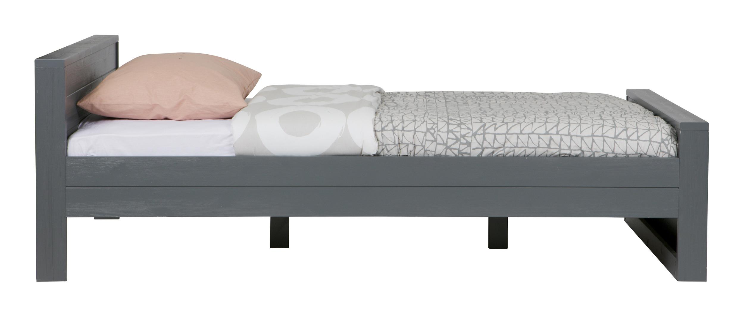 120 Bed Kopen.Woood Bed Dennis 120 X 200cm Kleur Steel Grey Root Catalog