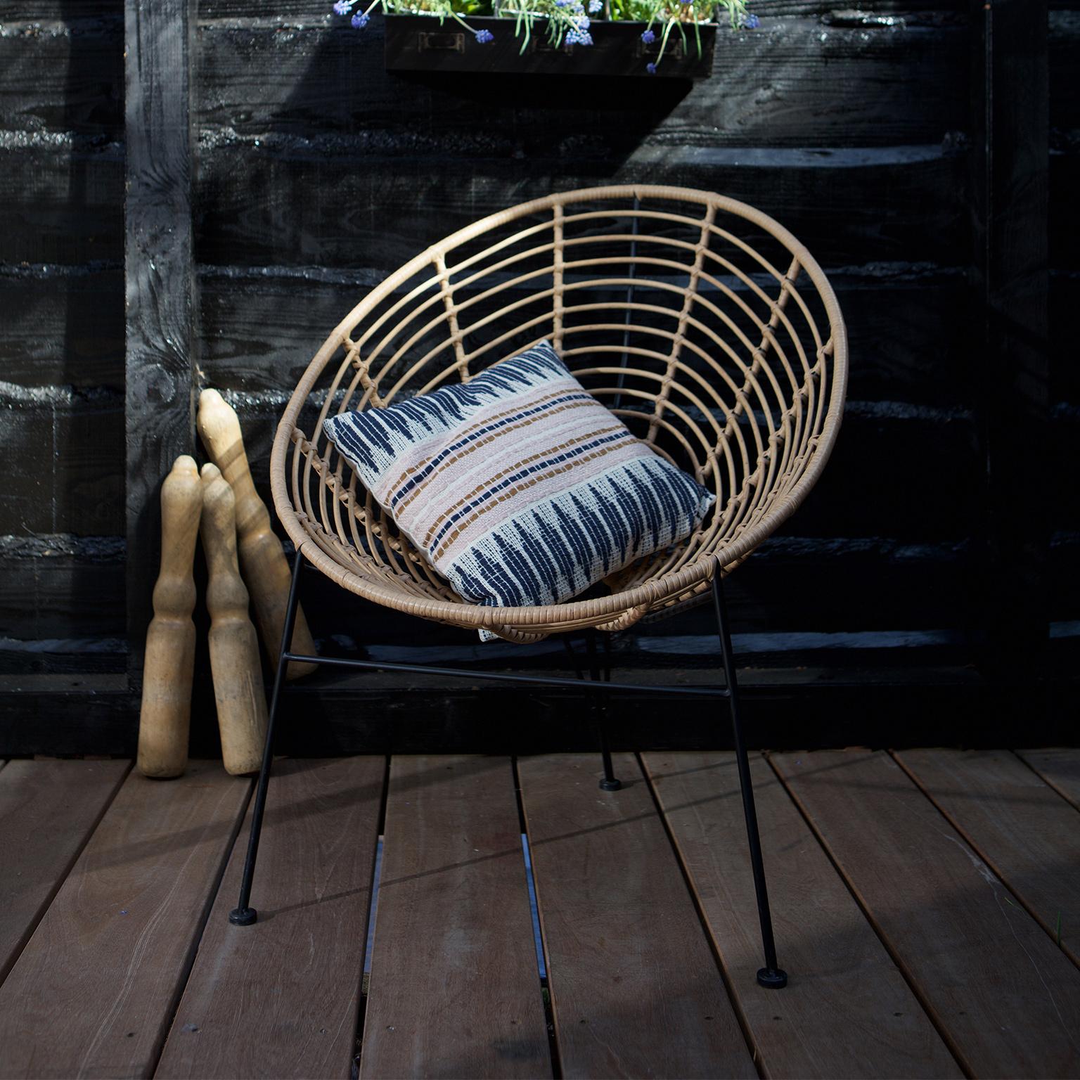 WOOOD Loungestoel 'Jane', kleur Naturel korting