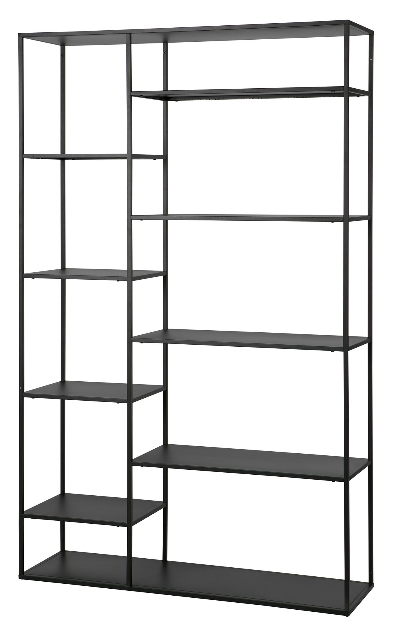 Woood Metalen Wandrek 'June' 120cm, kleur Zwart Kasten | Wandrekken & Wandkasten kopen