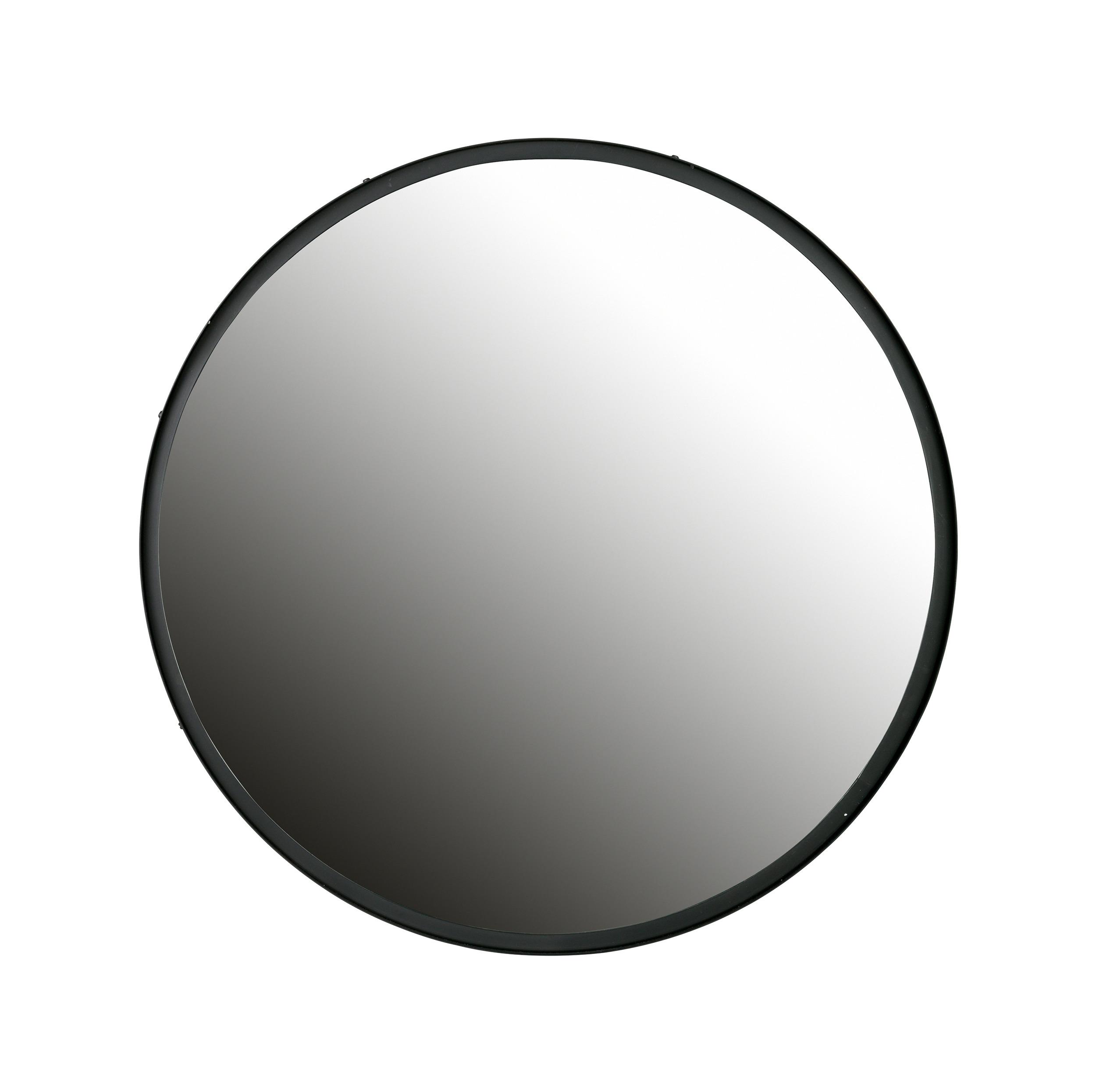 Woood Ronde Spiegel 'Lauren' 80cm, kleur Zwart WOOOD 31331 kopen