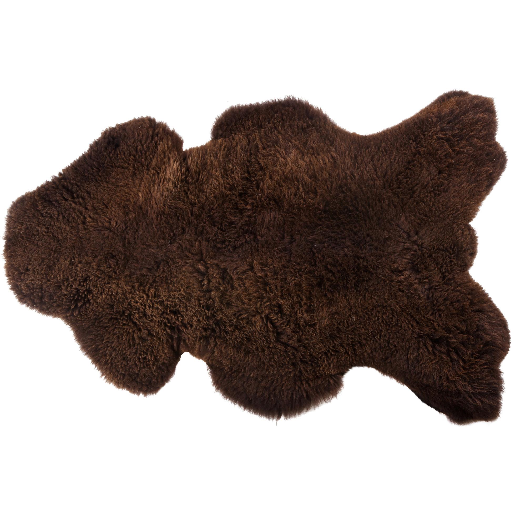 Woood Schapenvacht, kleur bruin 110 x 60cm