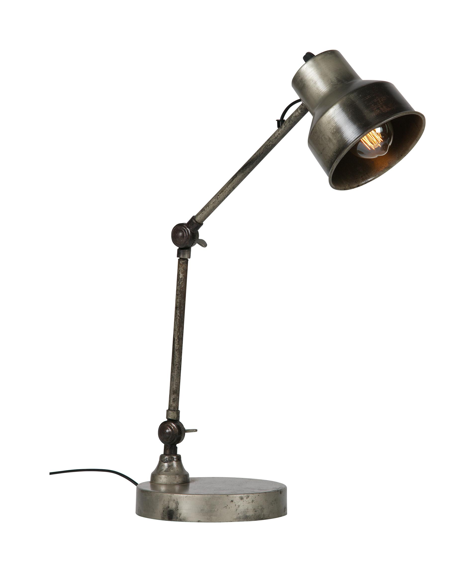 WOOOD Tafellamp 'Hector', kleur antiek zilver korting