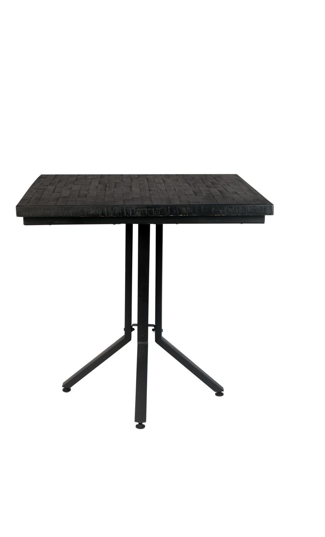 Industriele Vierkante Tafel.Zilt Industriele Vierkante Eettafel Dinelson 75 X 75cm Meubelpartner